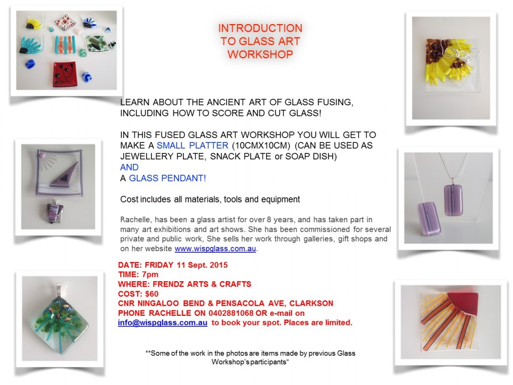 Introduction to Glass Art Workshop 11 Sept